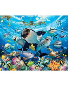Posterbehang onderwater Sea Adventure Walltastic XXL