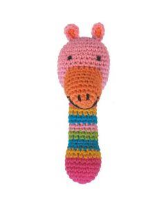 Rammelaar giraf roze gehaakt
