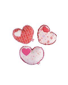 Rammelaar hart stof roze of rood