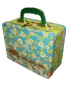 Blikken koffer schilpad