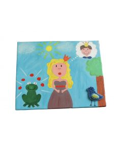 Schilderij prinses en de kikker