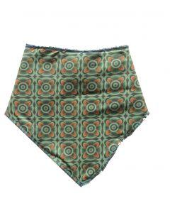 Slab bandana groen retro