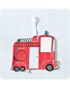 Speendoek met brandweerauto