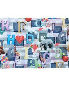 Stof met dieren patchwork
