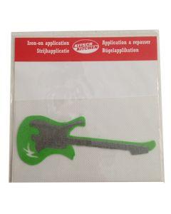 Strijkapplicatie gitaar groen grijs
