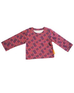 T-shirt baby roze met neon blokjes