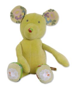 Knuffel Teddy muis lime-groen Colorique