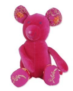 Knuffel Teddy muis Roze Colorique