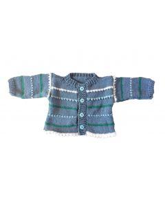 Babyvestje blauw met streepjes maat 62-68