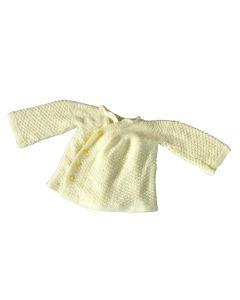 Vestje baby gebreid zacht-geel maat 74-80