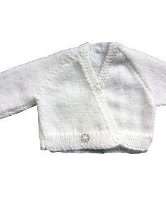 Babyvestje wit gebreid