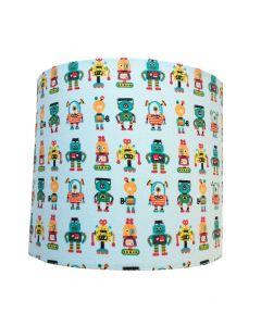 Wandlamp babykamer robotjes zacht groen